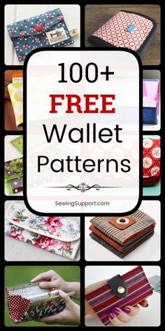 Free Wallet Patterns Over 100 free fabric wallet patterns to sew. Many simple and easy designs including clutch, zipper, keychain, accordion, and card wallets. Find the perfect wallet pattern for you! Diy Sewing Projects, Sewing Projects For Beginners, Sewing Hacks, Sewing Tutorials, Sewing Tips, Diy Bags Sewing, Fabric Sewing, Sewing Dolls, Sewing Crafts