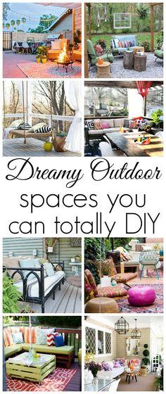 Dreamy Outdoor Spaces you can totally DIY - Click for ideas! http://www.classyclutter.net