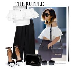 """""""Ruffle"""" by sella103 ❤ liked on Polyvore featuring BIG PARK, Alexander McQueen, Givenchy, GlassesUSA, Barneys New York and ruffles"""