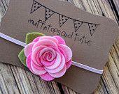 Felt flower headband daisy headband by muffintopsandtutus