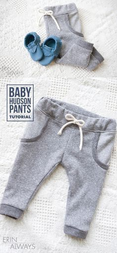 How to sew baby pants, a great baby sewing tutorial by @erinkeith05 || Baby Hudson Pants DIY