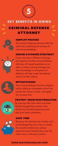 5 Key Benefits in Hiring Criminal Defense Attorney #Infographics