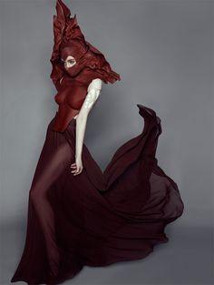 Fire - editorial, avant garde, chic, fashion, #costume #halloween