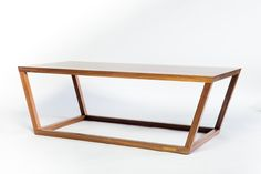 "The BVL One table by studio | 4480 (48"" Long x 22"" Wide x 16"" Tall) Shown here in American Black Walnut"