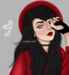 Beautiful Girl Drawing, Cute Girl Drawing, Cartoon Girl Drawing, Beautiful Drawings, Girl Cartoon, Best Friend Drawings, Girly Drawings, Sarra Art, Ariana Grande Drawings