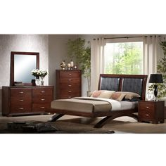 Elements International Raven Bedroom Group - Hello new solid wood bedroom set.  :-)