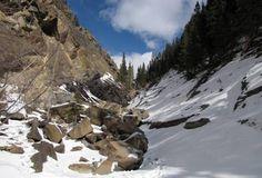 The false fault in Jura Creek Canyon west of Calgary, Alberta, Canada.