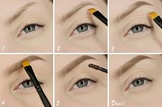 perfektes Augenbrauen Make-up-Tutorial-braune Augenbrauen Puder-Make-up Pinsel-a Luxury Beauty, Diy Beauty, Beauty Hacks, Beauty Tips, How To Make Shorts, Make Up, Vent Free Gas Fireplace, Perfect Brows, Wine Bottle Holders
