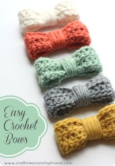 Easy Crochet Bows with Free Pattern