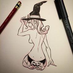 Pinup Arena • justinridgeart: Pumpkin Panties #dailydoodle...