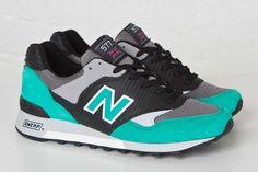 "New Balance 577 ""Carbon Fiber"" Black Teal Black Huarache 99aa8a4da5"