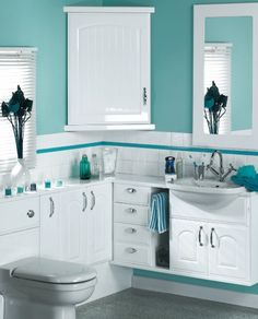 1000 images about bathrooms on pinterest attic bathroom for Teal and white bathroom ideas