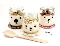 Bear Jars with Yogurt