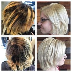Color transformation by Jessica! Several inches of new growth and brassy ends turned into a beautiful, bright blonde!   Book today at www.thecherryblossomsalon.com or 404-856-0533 #thecherryblossomsalon