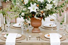 mesa flor de laranjeira, decoração de mesa posta, laranja, orange, tablescape decor, table setting