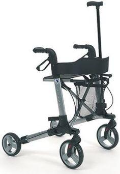 Rollator Quadri Light Vermeiren inkl. Einkaufsnetz mit Stockhalter, Ankipphilfe und Rückengurt