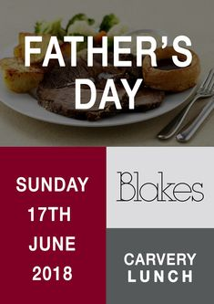 Celebrate Fathers Day here at Blakes..  Book your table via www.blakesevents.com/carvery Fathers Day, Restaurants, 21st, June, Sunday, Beef, Events, Baking, Ethnic Recipes