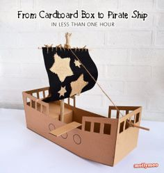 Every young child enjoys playing with an empty cardboard box. Their imagination is sparked to limitless possibilities. Follow this plan to create a pirate ship that can be fun and beneficial learning experience with your children.