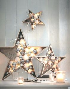 Cato The Winning List Of Best Christmas Party Decoration Ideas Unique Christmas Ornaments, Christmas Party Decorations, Christmas Crafts, Ball Ornaments, All Things Christmas, Christmas Holidays, Xmas, Diy Ugly Christmas Sweater, Wooden Stars