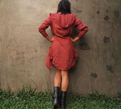 Mystical night dress... Rose red mix silk (3 sizes M,L and XL). $45.00, via Etsy.