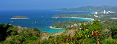 Karon View Point offers spectacular views of Karon and Kata beaches on the south side of Phuket island.