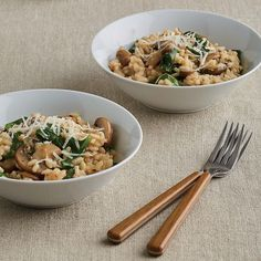 Mushroom and Spinach Risotto Photo