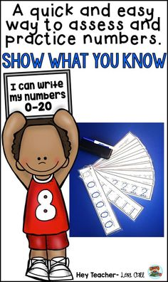 Printable Numbers Tracing Activity: Do your students need extra practice printing numbers 0-20? Use this quick assessment to find out. Laminate the numbers and use in math centers, as morning work, or for fast finishers.|PreK|Kindergarten|First Grade|