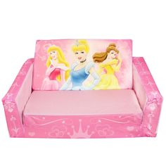 Dreams can come true with the Marshmallow's Flip Open Sofa with built in slumber! All of your favorite Disney Princess characters! Baby Furniture Sets, Sofa Furniture, Kids Furniture, Disney Bedrooms, Kids Sofa, Pink Kids, Bedroom Accessories, Take A Nap, Little Girl Rooms