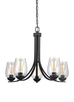 Buy the Sea Gull Lighting Blacksmith Direct. Shop for the Sea Gull Lighting Blacksmith Morill 5 Light Wide Chandelier with Seeded Glass Shades and save. 5 Light Chandelier, Chandelier Shades, Pendant Lights, Edison Lighting, Sconce Lighting, Edison Bulbs, Lighting Sale, Filter, Transitional Chandeliers