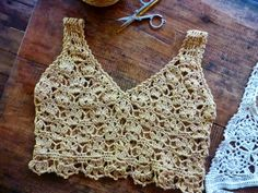 Crochetology by Fatima: Layering Lace – Cropped Cami and Bralette