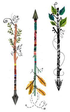 Arrow tattoo. I WANT ONE. Get on my body