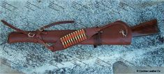 The Huntsman Leather Rifle Scabbard with Saddle and Shoulder Straps