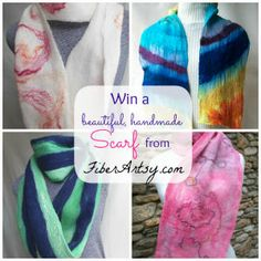 Win a Hand Felted Scarf up to $70 Value! Winner's Choice from my Etsy Store at www.etsy.com/shop/KentuckyBlueFiber