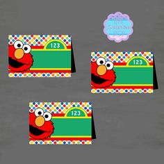Elmo, Sesame Street BLANK Food Tent, Tent Card, Place Card DIY PRINTABLE