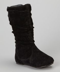 Take a look at this Black Delta Boot by Ositos Shoes on #zulily today!