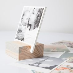 Artifact Uprising Wood Block + Prints $23.99 | choose 12 of your favorite images to sit upright in this pine block handcrafted from reclaimed wood