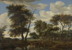 Salomon van Ruysdael : View of a village (Rijksmuseum) 1602-1670 サロモン・ファン・ロイスダール