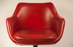 Sillón giratorio vintage rojo - TONY MALONY