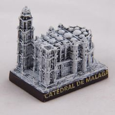 Collectible Miniature House: Spain. Mini Figurine from Malaga. Cathedral of Malaga