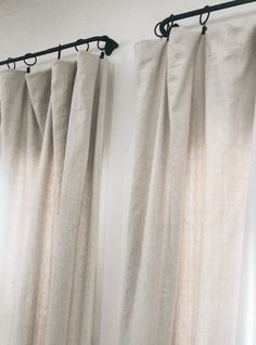16 Modern Farmhouse Style Diy Drop Cloth Curtains Always aspired to learn to knit, but unsure where to start? This kind of Utter Beginner Knitting Sequence is exactly wha. Living Room Decor Curtains, Drapes Curtains, Bedroom Decor, Bedroom Curtains, Drop Cloth Curtains Outdoor, Office Curtains, Canvas Curtains, Master Bedroom, Curtain Hangers