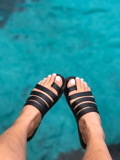 Handcrafted in supple leather which hug your feet! Cute Sandals, Wedge Sandals, Leather Sandals, Tory Burch Sandals, African Wear, Womens Slippers, Stylish Men, Leather Men, Men's Shoes