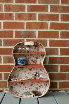Upcycled Guitar shelving. $150.00, via Etsy.