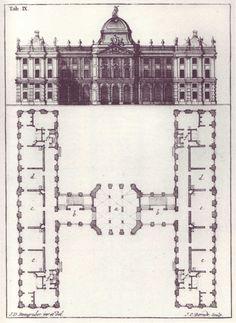 Letter 'H' from Steingruber's 1773 'Architectonisches Alphabeth.'