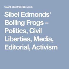 Sibel Edmonds' Boiling Frogs – Politics, Civil Liberties, Media, Editorial, Activism