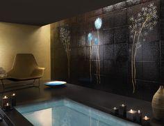 Contemporary Works 1032 Brown Murano Glass Mosaic Furniture Art