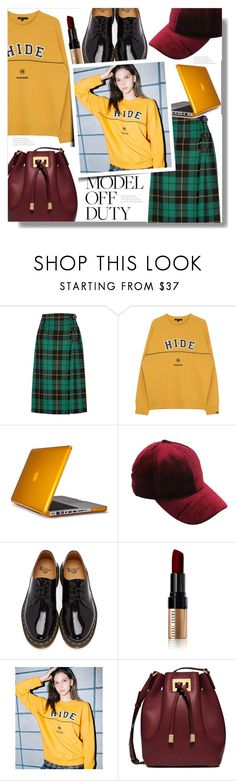 """It Girl: Model Off Duty"" by queenvirgo ❤ liked on Polyvore featuring Gucci, Speck, Dr. Martens, Bobbi Brown Cosmetics and Michael Kors"