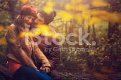 young couple in the nature royalty-free stock photo