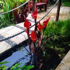lily-red-glass-copper-flower-malibu-fountains.png