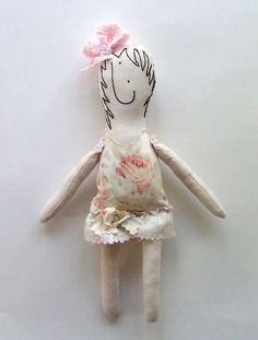 Small Rag Doll In Traditional English Florals and by GoHeyJudy, $35.00