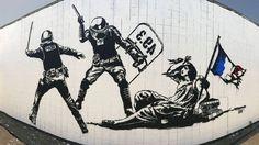 """""""L'Etat matraquant la liberté""""- Grenoble France 2016"""